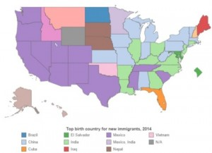 According to the Pew report, Maine was the only state to have the most immigrants come from Iraq.