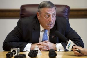 Paul LePage Gov. Paul LePage speaks to reporters shortly after the Maine House and Senate both voted to override his veto of the state budget, Wednesday, June 26, 2013, at the State House in Augusta, Maine. Robert F. Bukaty/ap